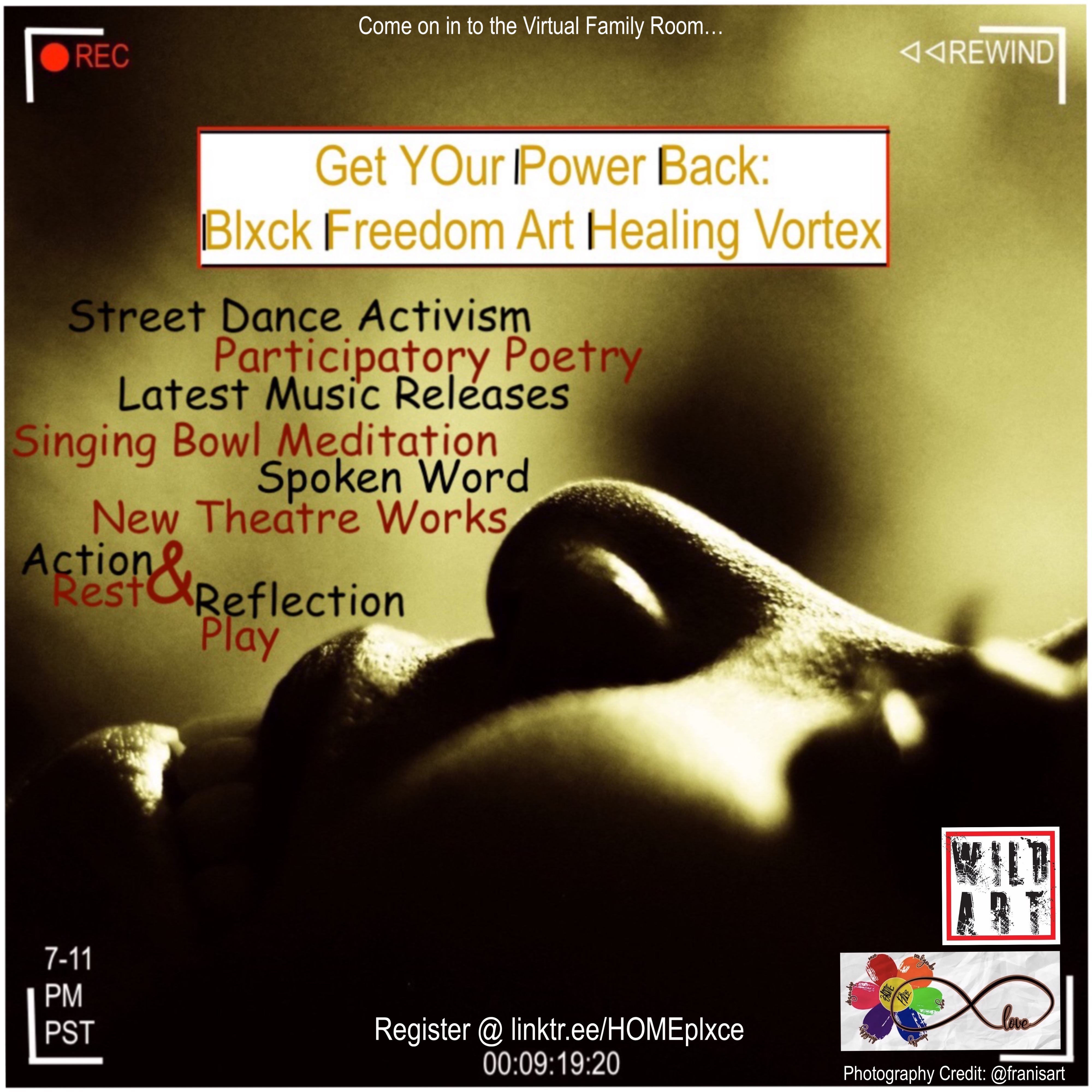 Get YOur Power Back-Blxck Freedom Art Healing Vortex Flyer